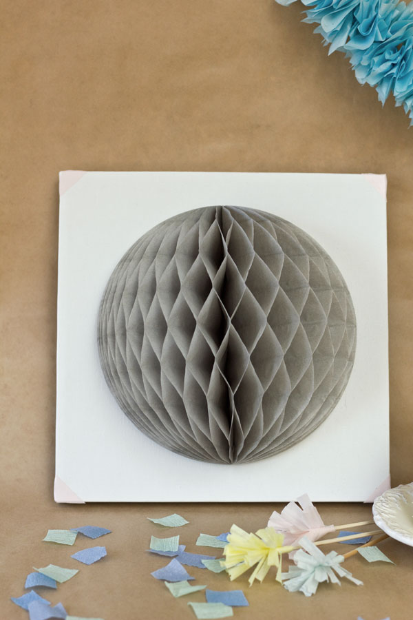 DIY Honeycomb Art