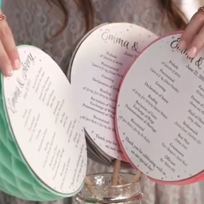 DIY Honeycomb Ceremony Fans