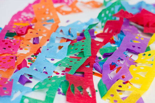 DIY Papel Picado Streamers for Cinco de Mayo