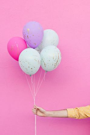 DIY Splatter Paint Balloons