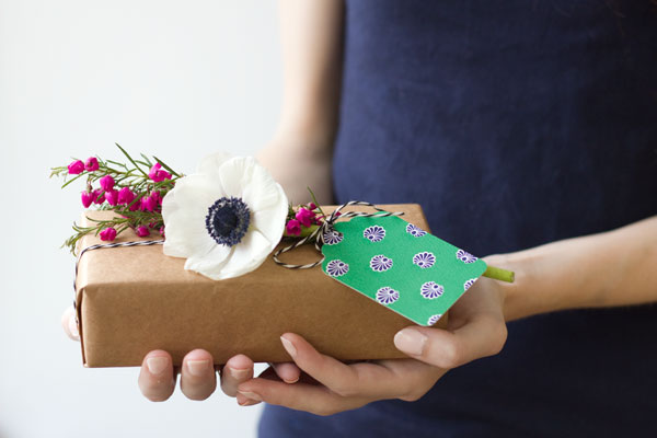 Fresh Flower Gift Tags DIY