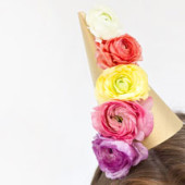 DIY Fresh Flower Party Hats