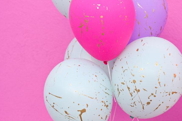 Splatter Paint Balloons