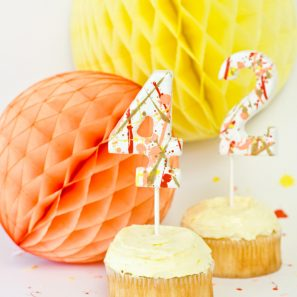 DIY Splatter Paint Cake Toppers for The Sweetest Occasion