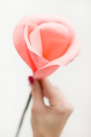 DIY Crepe Paper Rose Bud