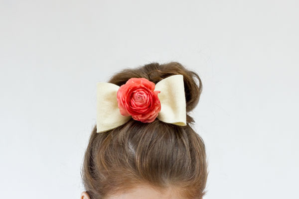DIY Fresh Flower Bow Tutorial