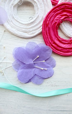 DIY Paper Flower Lanterns