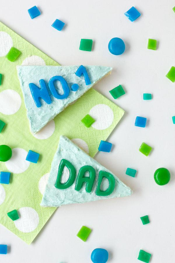 DIY Pennant Flag Cookies for Fathers Day