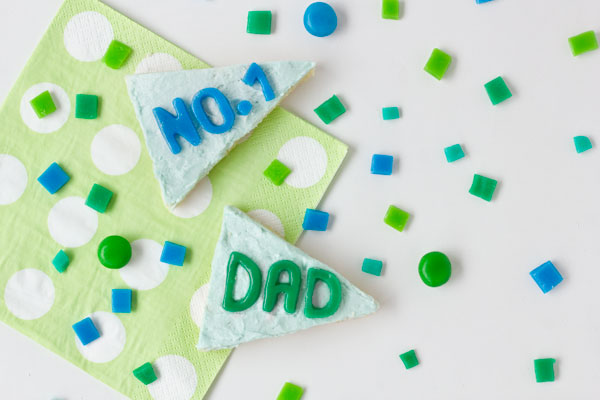 DIY Pennant Flag Cookies