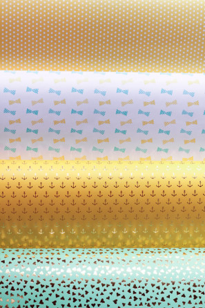 Fig 2 Design Gold Foil Wrapping Paper
