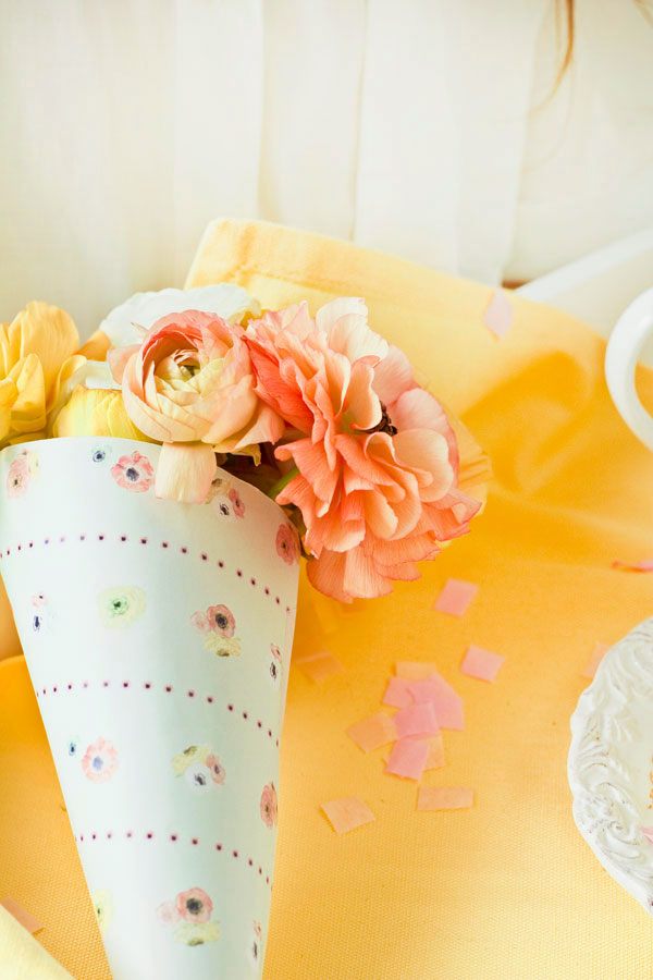Free Printable Mother's Day Bouquet Wrap