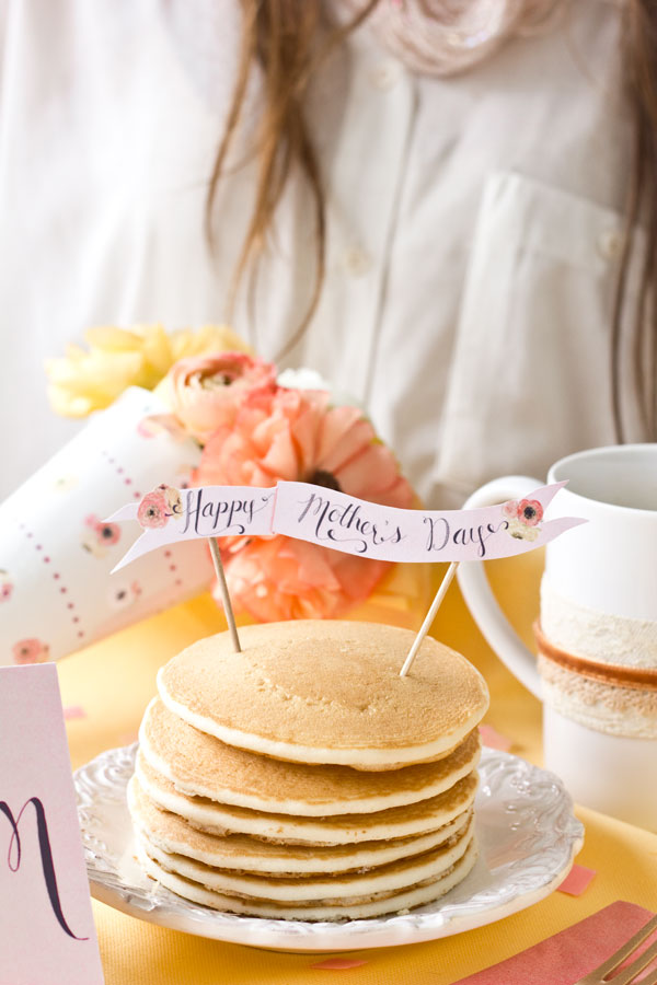 Free Printable Mothers Day Pancake Topper