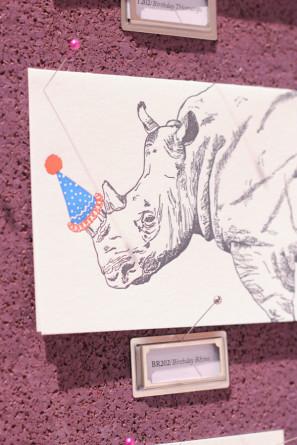 Party Hat Rhino Card Papillon Press