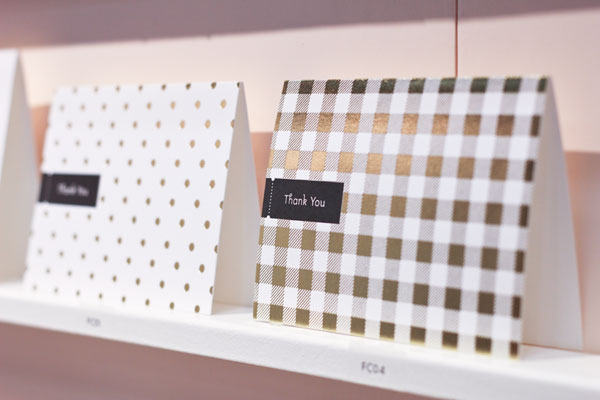 Pei Design Gold Thank You Cards