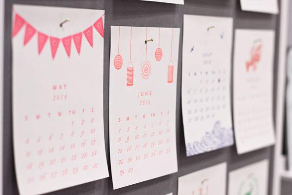 Sesame Letterpress Calendar