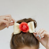 DIY Fresh Flower Hair Bows