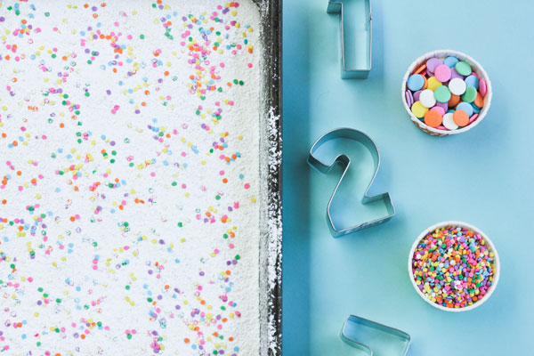 Confetti Marshmallow Numbers Supplies