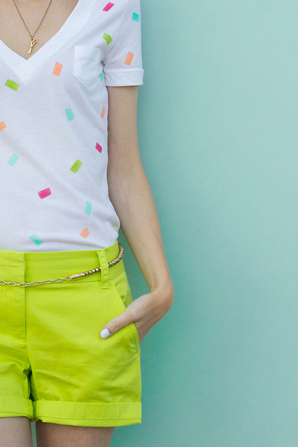 Confetti Shirt DIY