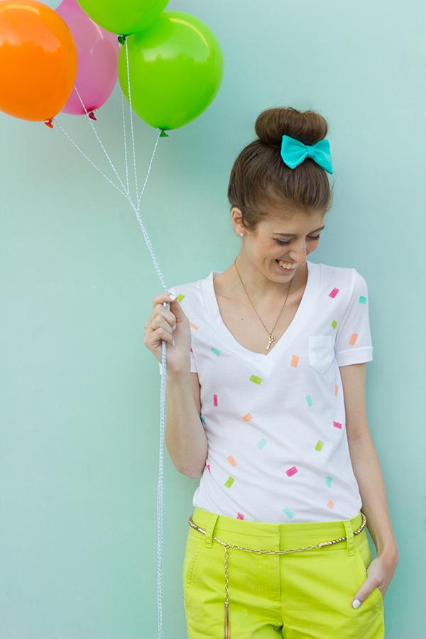 DIY Confetti Shirt Tutorial