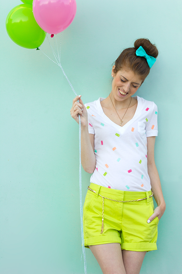 DIY Confetti T-Shirt