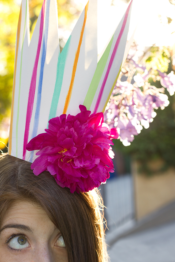 DIY Party Crowns with Fresh Flowers