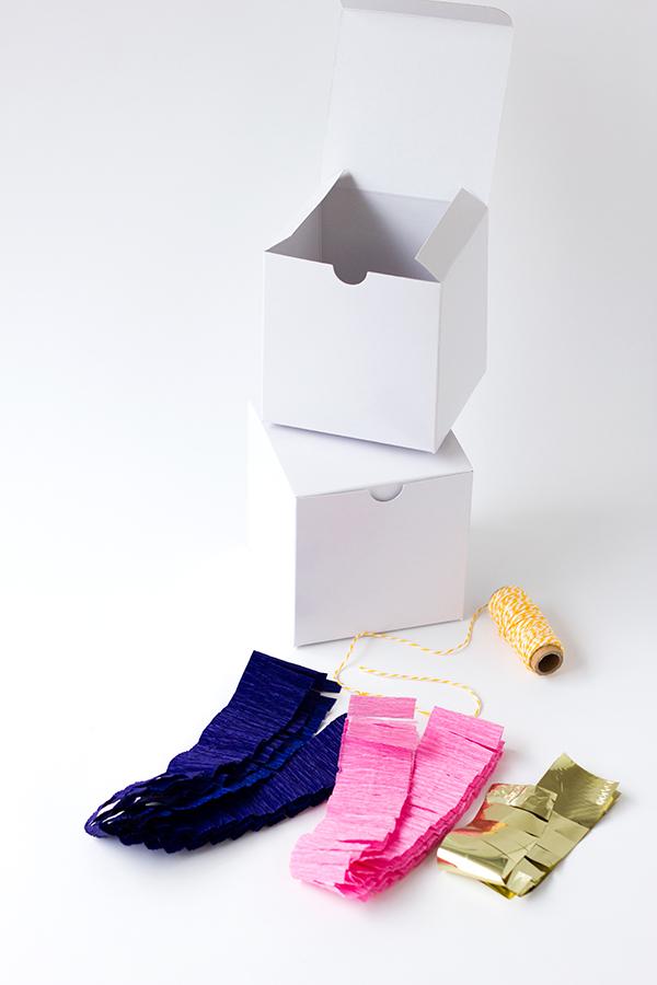DIY Pinata Box Supplies