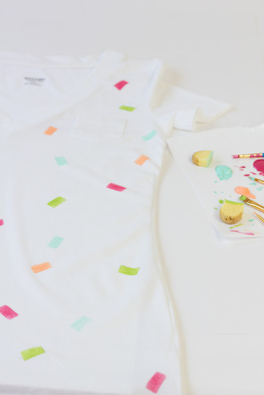 How To Make a Confetti Shirt