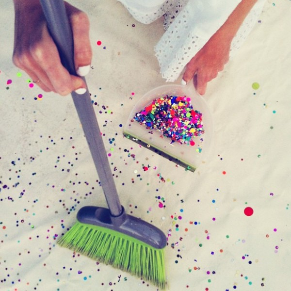 Studio DIY Confetti Cleanup
