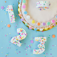 DIY Confetti Marshmallow Numbers (+ A Giveaway – CLOSED!)