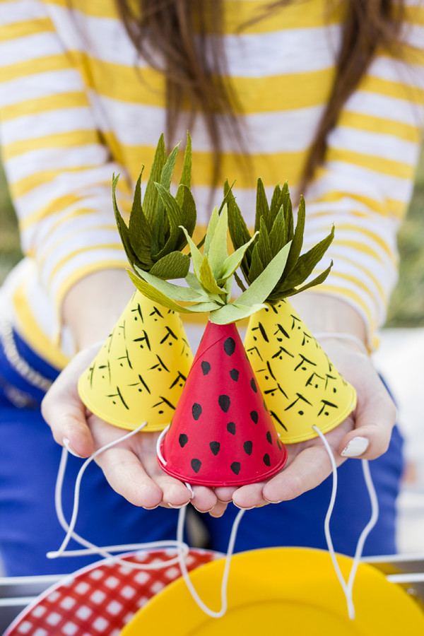 DIY Fruit-Inspired Party Hats