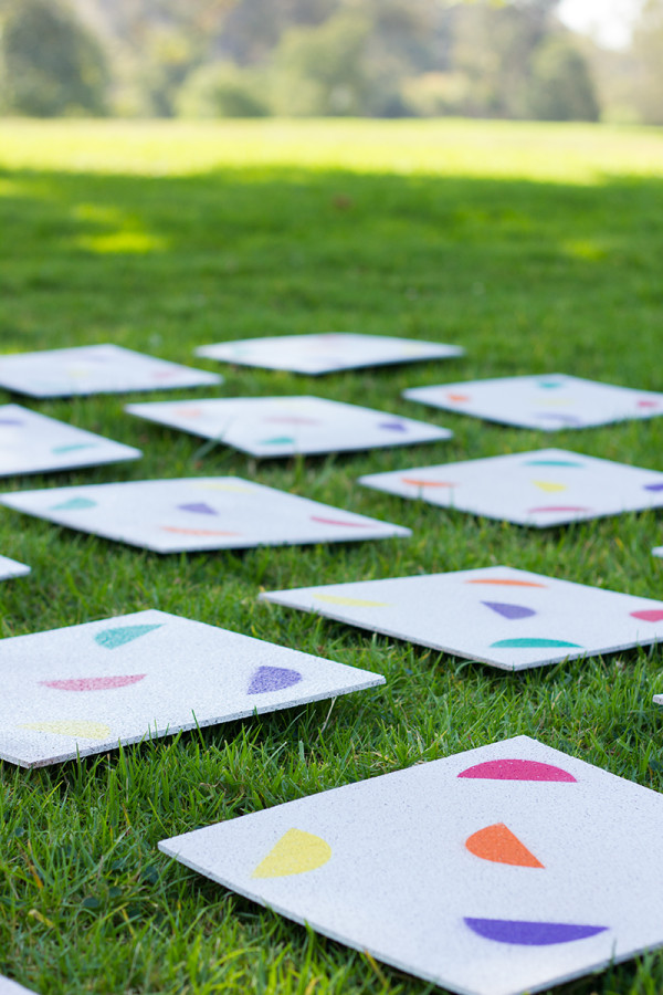 DIY Giant Lawn Matching Game with Printable Stencils