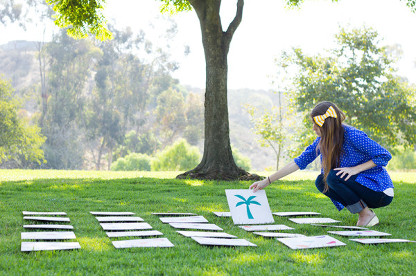 DIY Giant Lawn Memory Game
