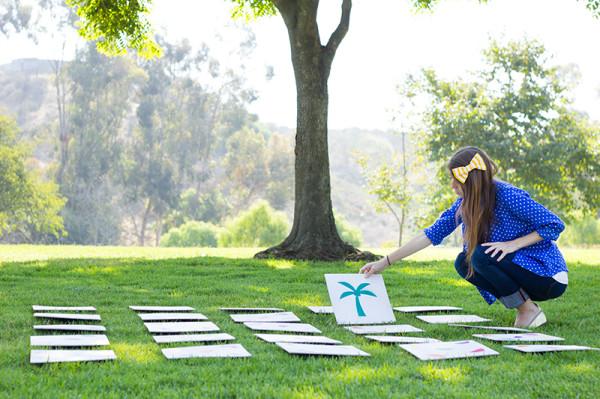 DIY Giant Lawn Memory Game
