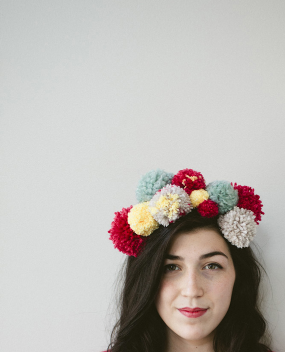 DIY Yarn Pom Party Headband
