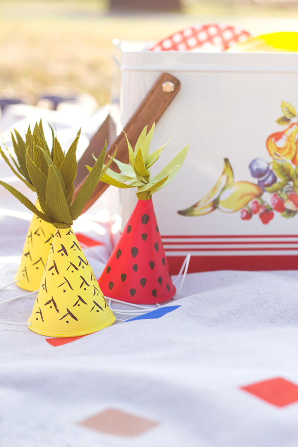 Mini Fruit-Inspired Party Hats DIY