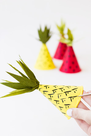 Summer Fruit Party Hats