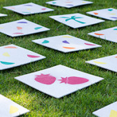DIY Giant Lawn Matching Game