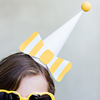 DIY Paper Bow Party Hats