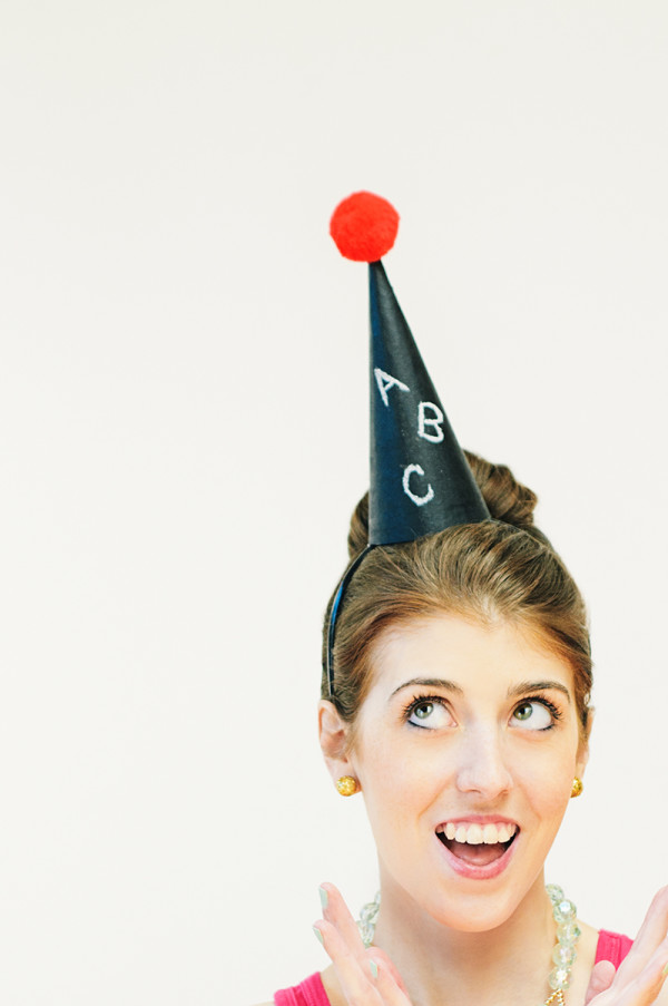 DIY Chalkboard Party Hat