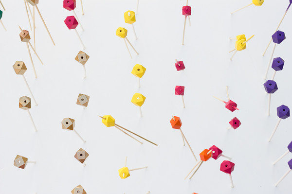 DIY Colorful Wooden Geometric Beads