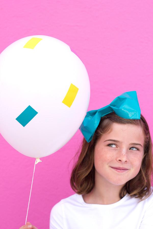 DIY Confetti Balloon Stickers