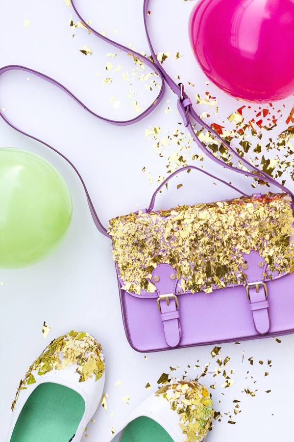 DIY Confetti Dipped Accessories