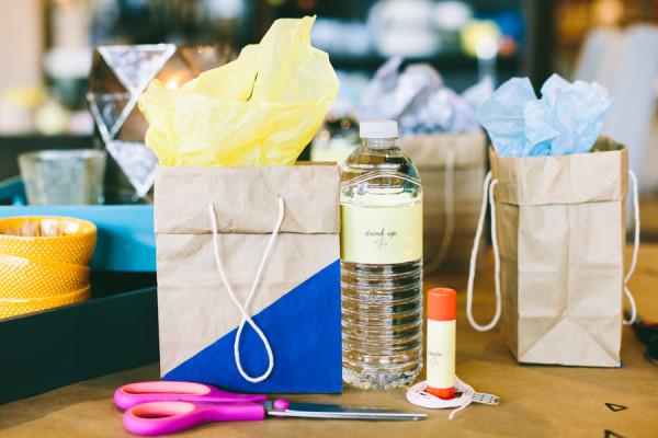 DIY Geometric Gift Bags