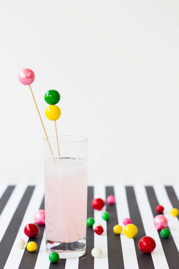 Diy gumball drink stirrers 600x900