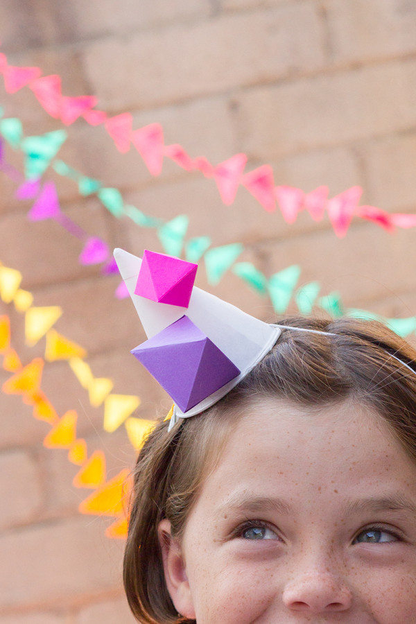 Geometric Party Hat DIY