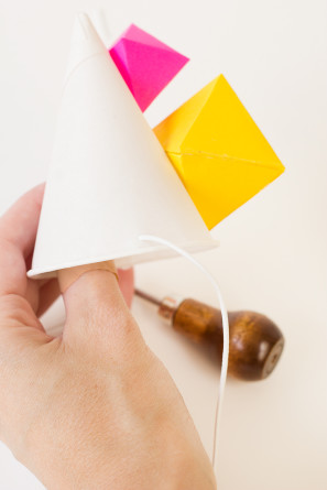 Geometric Party Hats DIY