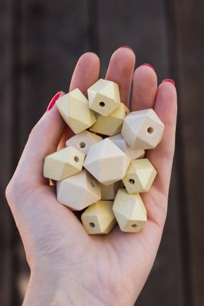 Geometric Wooden Beads