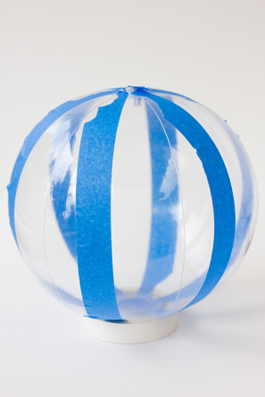 Painted Striped Beach Ball