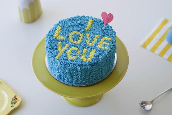 Typographic Cake