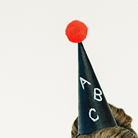 DIY Chalkboard Party Hats (+ 4 More Chalkboard Look-alikes)